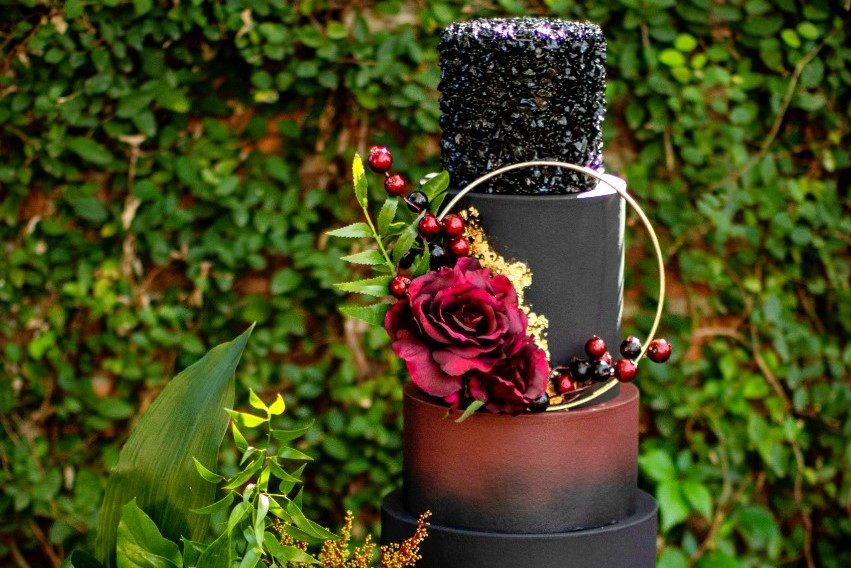 Alternative Black Wedding Cake